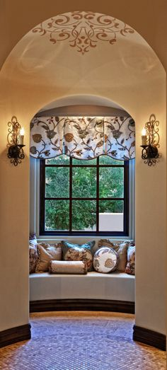 Window treatments on pinterest cornices valances and for Old world window treatments