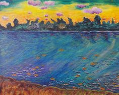 Sunset Painting  Blackwater River 1 Landscape by FreelyExpressed, $189.00