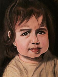 Oil on canvas in progress
