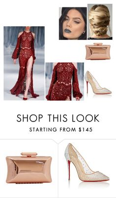 """RED Dress"" by tynabrookler ❤ liked on Polyvore featuring Treesje and Christian Louboutin"