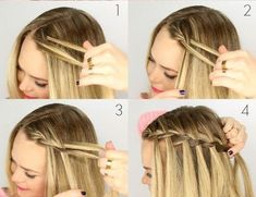 Wavy Centre-Parted Tree Braids - Top 25 Tree Braids Hairstyles - The Trending Hairstyle Tree Braids Hairstyles, Hairstyles With Bangs, Girl Hairstyles, Braided Hairstyles, Hairstyle Photos, Short Hair Braids Easy, Medium Hair Styles, Short Hair Styles, Elegant Hairstyles