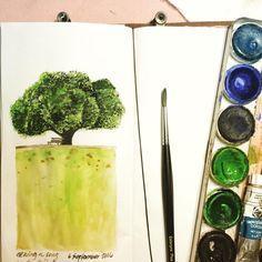 Meeting you again #tree #gardenbench #botanicalgardens #botanical #garden #landscape #sketch #drawing #illustration #instasketch #atthepark #botanicalgarden #travelersnotebook #sketchbook #journal #notebook