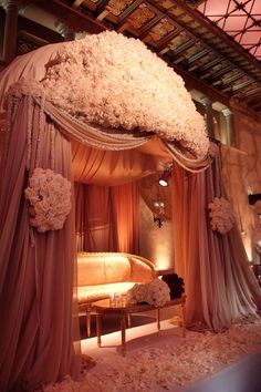 Extravagance. This is how the bride and groom should sit during the reception