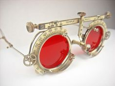 The lenses are in excellent condition with no scratches. The lenses are glass and should be worn with caution. Steampunk Costume, Steampunk Goggles, Steampunk Sunglasses, Fashion Eye Glasses, Steampunk Accessories, Johnson And Johnson, Optician, Fantasy Jewelry, Jewelry Crafts