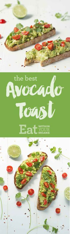 if you have to have avocado this is good, skip the drizzle and seeds to be close to plant strong