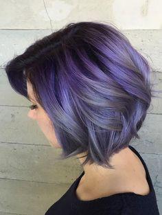 Wavy violet bob by Butterfly Loft                                                                                                                                                                                 More