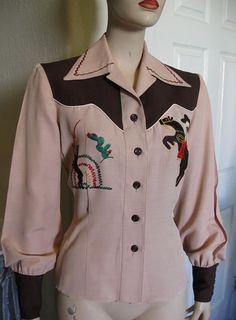 Vintage 1940's Designer Embroidered Western by TheVintageVendetta, $175.00