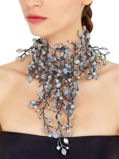 Statment glass beads necklace