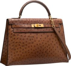 Hermes 35cm Soufre Epsom Sellier Kelly with Gold Hardware