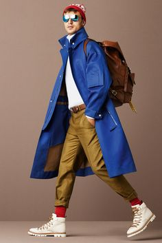 Spring is right around the corner, time for bright pops of color -- Bally Spring 2016 Menswear Style and Fashion
