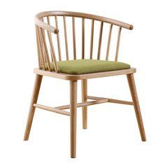Silla Barril $70.000 + IVA  Ancho: 41 cm Largo: 48 cm Altura: 75 cm Altura asiento: 45 cm Color: Café natural y verde Material: Madera de olmo y felpa verde  Código Producto: ASC-026