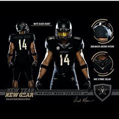 Vanderbilt black out uniforms with carbon black uniforms will be worn  against temple Vanderbilt Football 853062fd4
