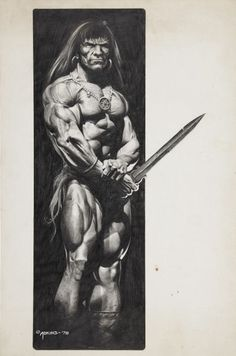DAN ADKINS Conan the Barbarian PORTFOLIO Plate Comic Art
