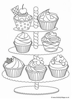 Bakery foods coloring pages to print Cupcake Coloring Pages, Shopkins Colouring Pages, Fruit Coloring Pages, Cars Coloring Pages, Unicorn Coloring Pages, Coloring Pages To Print, Printable Coloring Pages, Free Coloring, Coloring Pages For Kids