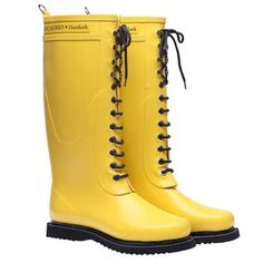 LOVE the bright cheery yellow...Tuck in your jeans. Splash in the puddles..again! (From Fab.com).