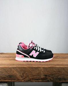 New Balance - Women s 574SJB Trainer - Black   Pink New Balance Sneakers, New  Balance f7e0dd9ecc15