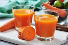 Suco de cenoura e maçã para Espinhas