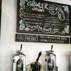 Growlers at Parallel 49 Brewing.
