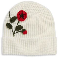 Kate Spade New York Poppy Crochet Beanie (33.085 CRC) ❤ liked on Polyvore featuring accessories, hats, black, acrylic beanie hat, crochet beanie cap, kate spade, acrylic hat and beanie cap hat