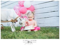 Deanna J. Martin Photography Areli's Outdoor Birthday Portrait Session with a Goat