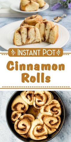 Step by step recipe!   Delicious cinnamon rolls ready in less than 30 minutes, thanks to your pressure cooker, that allows you to skip the rising phase. If you're craving for something sweet that goes with your morning coffee, that's your recipe!These cinnamon rolls have a perfect dough – soft and without any tough parts, plus they are sweetened just enough. The dough has no sugar at all! These Cinnamon rolls are just perfect as they are! Great Desserts, Healthy Dessert Recipes, Vegan Recipes Easy, Sweet Recipes, Breakfast Recipes, Yummy Recipes, Pressure Cooker Desserts, Best Pressure Cooker Recipes, Slow Cooker Recipes