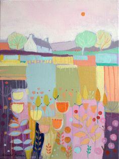 Original Acrylic Painting on Canvas 'Springtime' by Annabel Burton