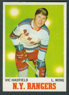 1970 71 TOPPS HOCKEY 62 VIC HADFIELD NM NEW YORK N Y RANGERS