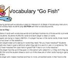Playing games with vocabulary is step 6 in Marzano's  6-Steps of Vocabulary Instruction. This activity helps students play GO FISH with their vocab...