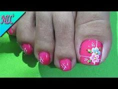 Super nails french tip flowers ideas Pedicure Nail Art, Toe Nail Art, Nail Manicure, Flower Pedicure Designs, Toe Nail Designs, French Nails, Cross Nails, New Nail Art Design, Magic Nails