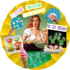 I Scream, You Scream, We all Scream for Ice Cream!, created by charmings on Polyvore