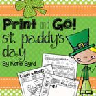 Need some quick activities for your kindergarten students with a St. Paddy's Day theme?  Then these are for you!  Fun and engaging sheets for homew...