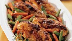 Orange-Hoisin Glazed Roasted Chicken and Vegetables