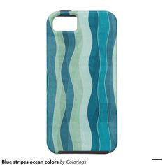 Blue stripes ocean colors iPhone 5 cover #pattern #ocean #iphonecases #iphonecase