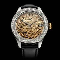 Men's Wristwatch built on a base of the vintage 1900's Mechanical restored Swiss ZENITH Movement Old Pocket Watches, Bellisima, Stainless Steel Case, Skeleton, Restoration, Base, Leather, Accessories, Vintage