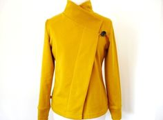 Cool Curry Spring Sweatjacket,button closure Available size XS-L von Rosenrot Modedesign  auf DaWanda.com