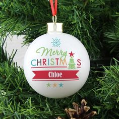 Bright Merry Christmas Bauble