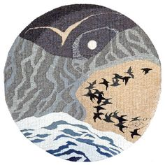 """""""In the beginning"""" - an appropriate first pin!  Hoxa Tapestry Gallery Orkney"""