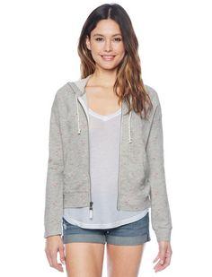 Splendid Official Store, Flamingo Hoodie, heather grey, Womens : Tops : Long Sleeve, ST9433