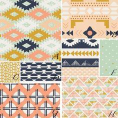 be Y O U custom baby crib bedding set April Rhodes by LilyLaneBaby