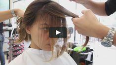 Cut Side Bangs, How To Cut Bangs, Short Hair With Bangs, Long Hair Cuts, Short Hair Styles, Front Bangs, Oval Face Bangs, Oval Face Haircuts, Wispy Hair