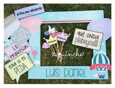 Letreros para fiesta de Bautizo www.taguinche.com