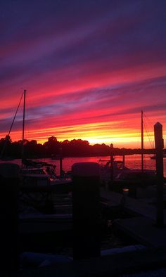 Sunset in Warren, RI #VisitRhodeIsland