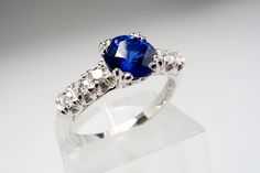 Could you do blue? Shocking sapphire engagement rings from EraGem | Offbeat Bride #ring #wedding #engaged
