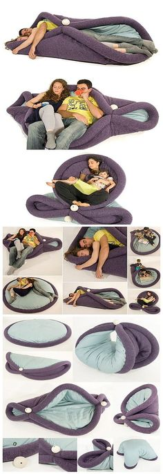 Hope I have one ^_^ Funny Pillows, Diy Pillows, Sewing Tutorials, Sewing Crafts, Sewing Projects, Space Saving Furniture, Diy Furniture, Baby Bumper, Multipurpose Furniture