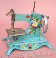 "Blue ""Little Miss"" Lindstrom Tool & Toy Co. TSM / Toy Sewing Machine from WWII. Sew pretty!"