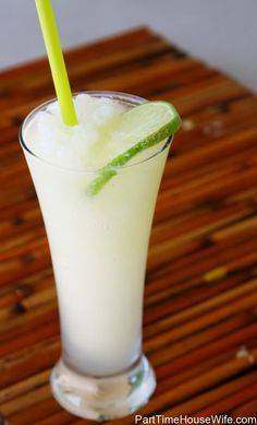 lemon vodka slushie (minus the lime slice)