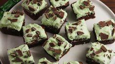 Mint Chocolate Chip Brownies  - Delish.com