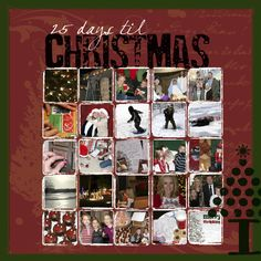 Great Christmas scrapbook page
