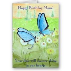 #Butterfly #Happy #Birthday #Mom #Card #Butterflies #Poetry #Poems www.zazzle.com/... $3.35 birthday-cards-invitations-postage personal-development personal-development