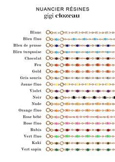 """Bracelets or jaune et perles de résine """"gigi"""" by Clozeau"""